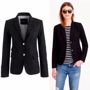 J Crew Schoolboy Wool Blend Notch Blazer sz 4